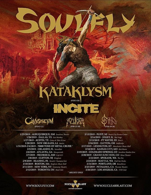 Soulfly Tour 2019